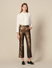 Flared Brocade Tailored Trousers : LastChance-ES-F50 color Gold