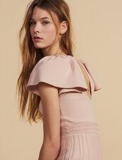 Short Knit Dress : null color Powder