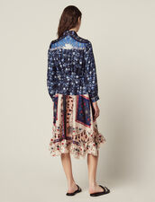 Shirt Dress In A Mixture Of Prints : null color Multi-Color