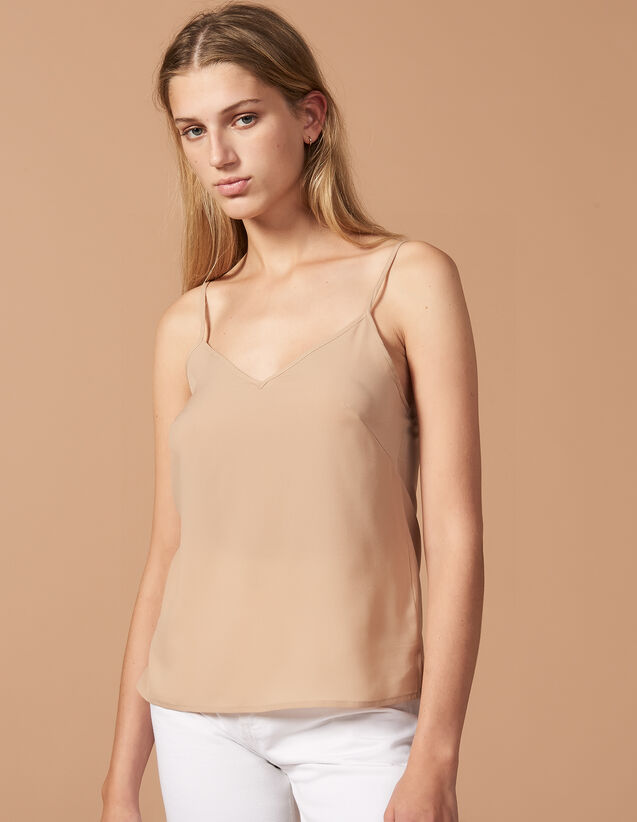Top With Fine Straps : Underslips & Tops color Ecru