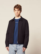 Harrington-Style Jacket : Blazers & Jackets color Navy Blue