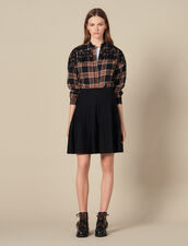 Flared Knit Skirt : Skirts & Shorts color Black