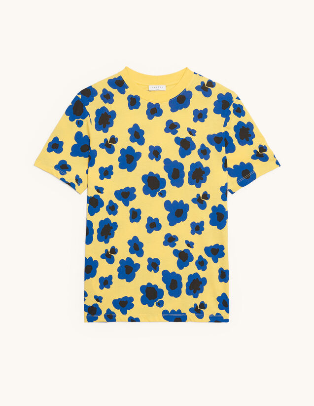 Printed T-shirt : Summer Collection color Yellow