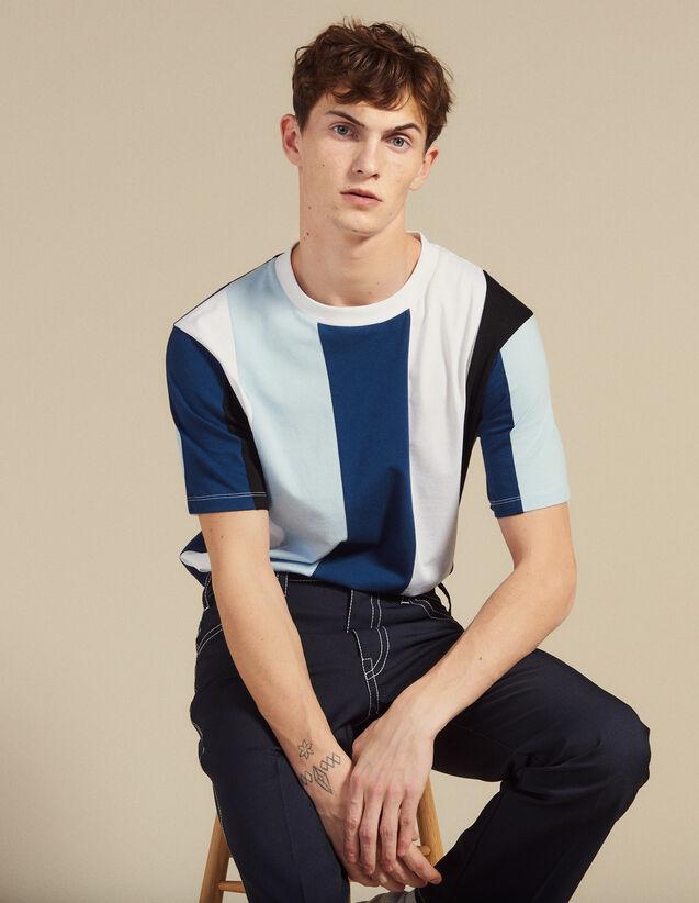 T-Shirt With Wide Stripes : Sélection Last Chance color Blue
