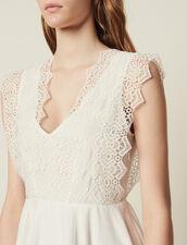 Short Skater Dress : null color white
