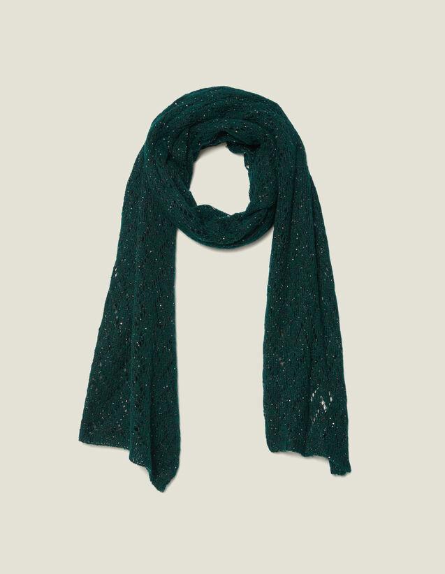Sequin Scarf : Scarves color Forest Green