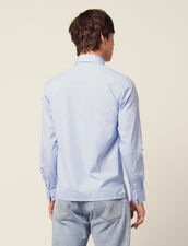 Formal Striped Cotton Shirt : Shirts color Sky Blue
