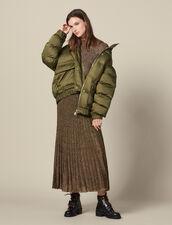 Oversized quilted padded jacket : LastChance-ES-F50 color Olive Green