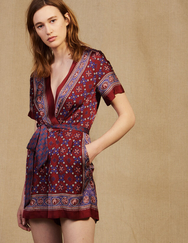 Printed Playsuit : Jumpsuits color Bordeaux