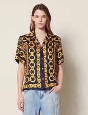 Short-Sleeved Printed Shirt : LastChance-FR-FSelection color Navy Blue