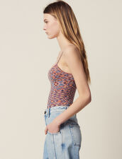 Strappy Knitted Bodysuit : null color Orange