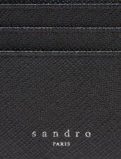 Saffiano Leather Zipper Card Holder : Card Holders color Black