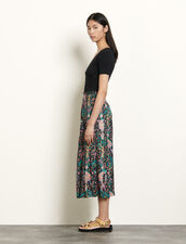 Long printed skirt : Skirts & Shorts color Black