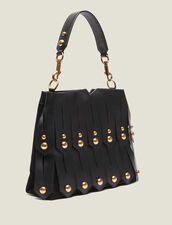 Wide Fringed Bag To Carry In Two Ways : All Bags color Black