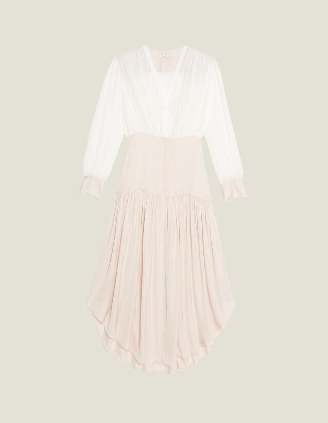 Sandro White/Pink Dress