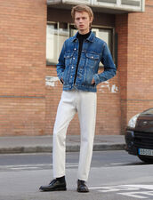 Straight-Cut White Jeans : LastChance-FR-H50 color white