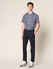 Fitted Chinos : SOLDES-CH-HSelection-PAP&ACCESS-2DEM color Navy Blue