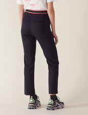 Straight-Cut Trousers : null color Navy Blue