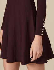 Knit dress with jewelled buttons : LastChance-ES-F50 color Brown