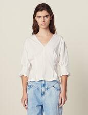 T-Shirt With Lace Back : LastChance-FR-FSelection color Ecru