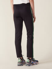 Jogging Bottom Style Trousers : Pants color Black