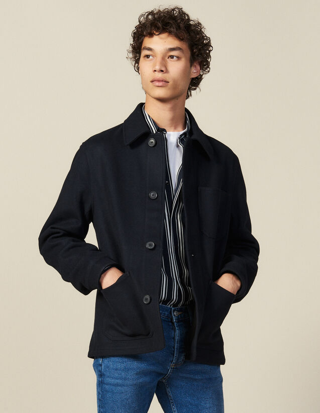 Woolcloth Jacket : Blazers & Jackets color Navy Blue
