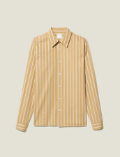 Striped Cotton Shirt : All Winter collection color Beige/White