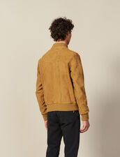 Suede Zipped Jacket : All selection color Beige