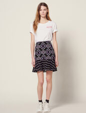 Short Guipure Skirt : Skirts & Shorts color Black