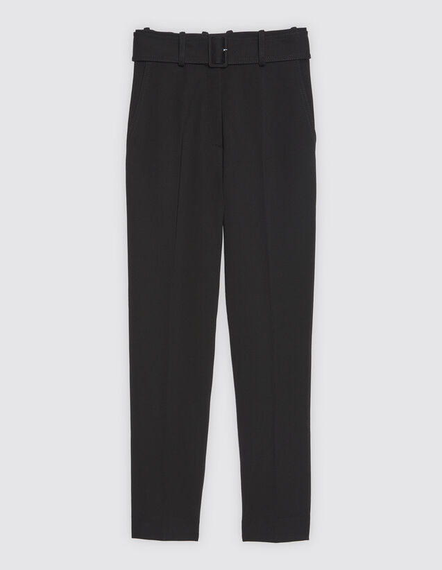 7/8 Length Trousers With Belt by Sandro Paris