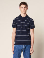 Stripe Polo Shirt : Sélection Last Chance color Navy Blue