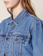 Masculine Fit Denim Jacket : Blazers & Jackets color Blue Vintage - Denim