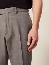 Wool Suit Trousers : LastChance-FR-H40 color Light Grey