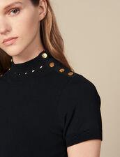 Knit dress with high neck : LastChance-ES-F30 color Black