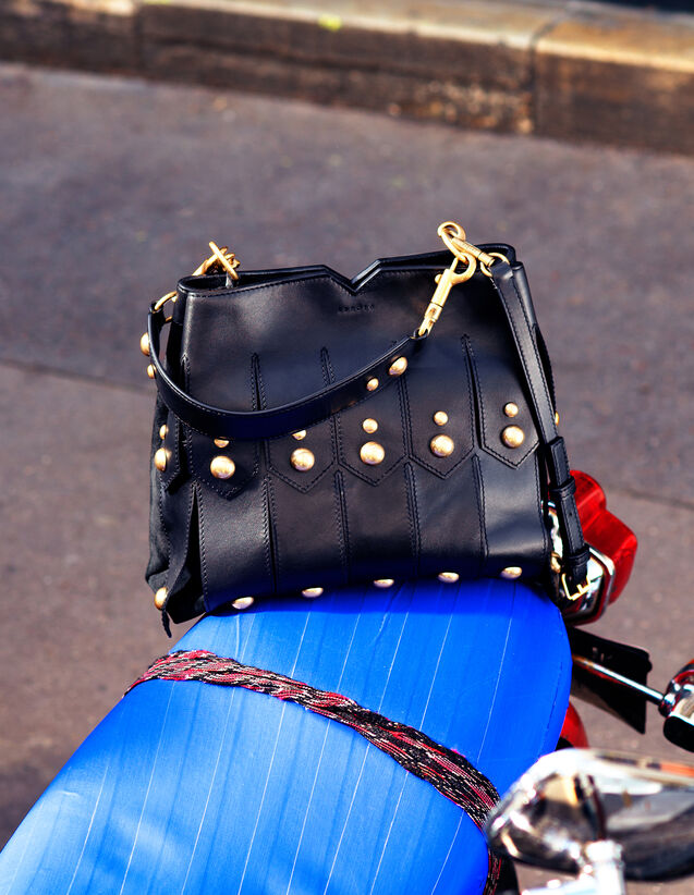 Wide Fringed Bag To Carry In Two Ways by Sandro Paris