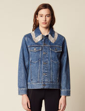Denim Jacket With Rhinestones : Blazers & Jackets color Blue Vintage - Denim