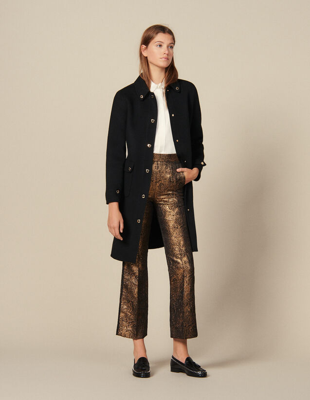 Flared Brocade Tailored Trousers : Copy of VP-FR-FSelection-Pantalons&Jeans color Gold