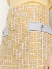 Short tweed skirt : Skirts & Shorts color Beige