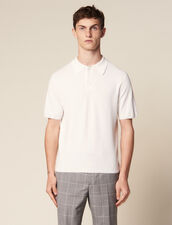 Fine Knit Polo Shirt With Short Sleeves : VP-ES-HSelection-PAP&ACCESS color Ecru