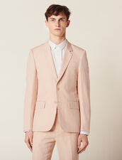 Linen Blend Suit Jacket : Suits & Tuxedos color Light pink
