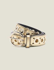 Belt With Eyelets : New In color Gold