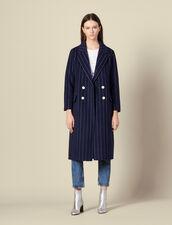 Long Double Faced Coat : Coats color Navy Blue