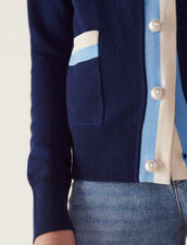 Fine Knit Collegiate Cardigan : Sweaters & Cardigans color Nude