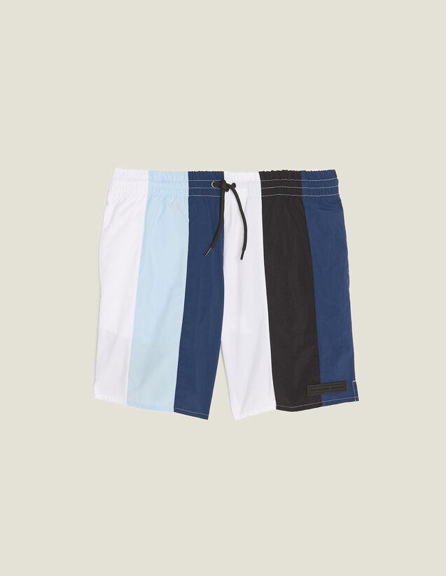 Multi-Coloured Striped Swim Shorts : Soak up the sun color Blue