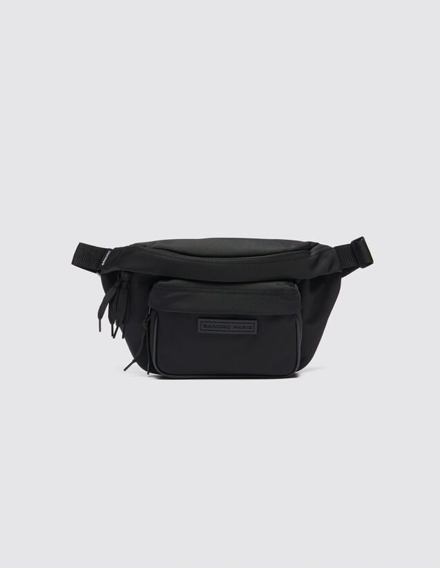 Cross-body bum bag : All Leather Goods color Black