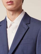 Wool Suit Jacket : LastChance-FR-H50 color Bluish Grey