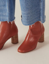 Leather Ankle Boots : Summer Collection color Rust