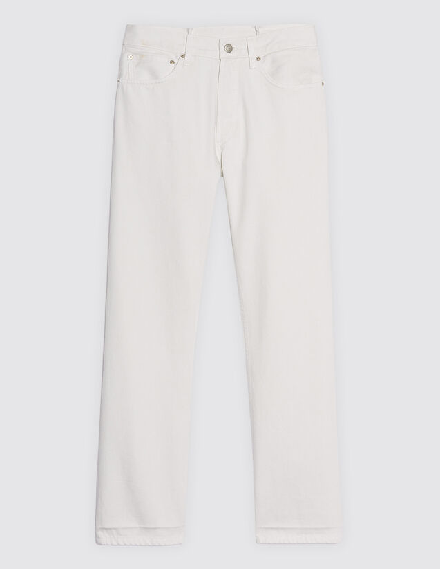 Straight-Cut White Jeans : SOLDES-CH-HSelection-PAP&ACCESS-2DEM color white