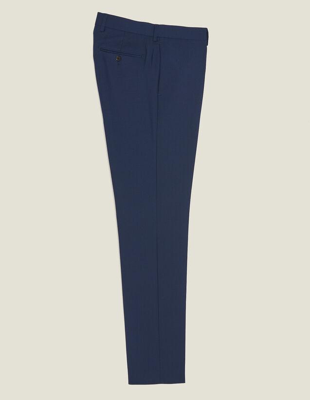 Mohair Wool Suit Trousers : Sélection Last Chance color Blue