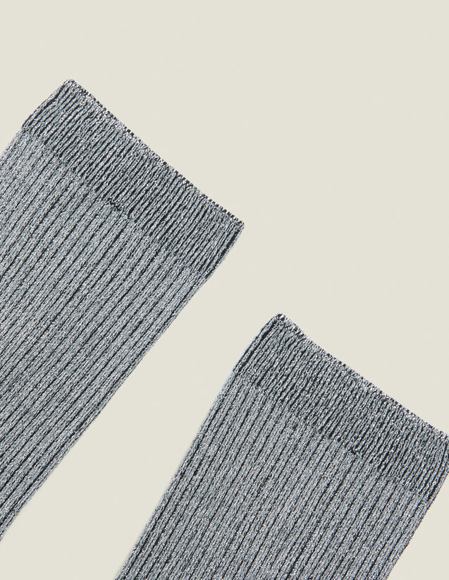 Lurex Socks : All Winter collection color Silver